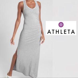 Athleta Ruched Maxi Dress M